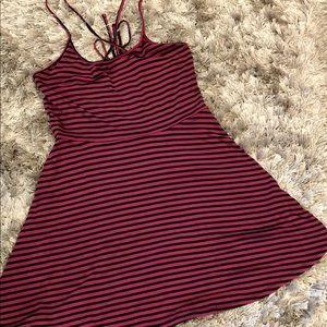 Striped skater skirt dress